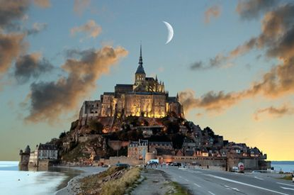 Mont St Michel - First chapel dedicated to Archangel Michael in 708. More than 1,300 years old.