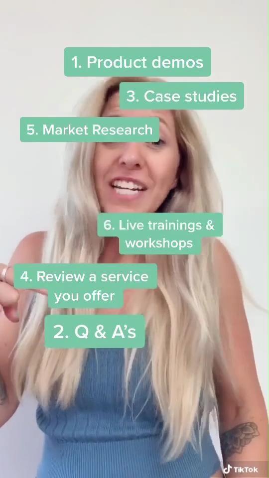 6 Easy Tiktok Live Stream Topic Ideas Video Small Business Marketing Marketing Marketing Plan