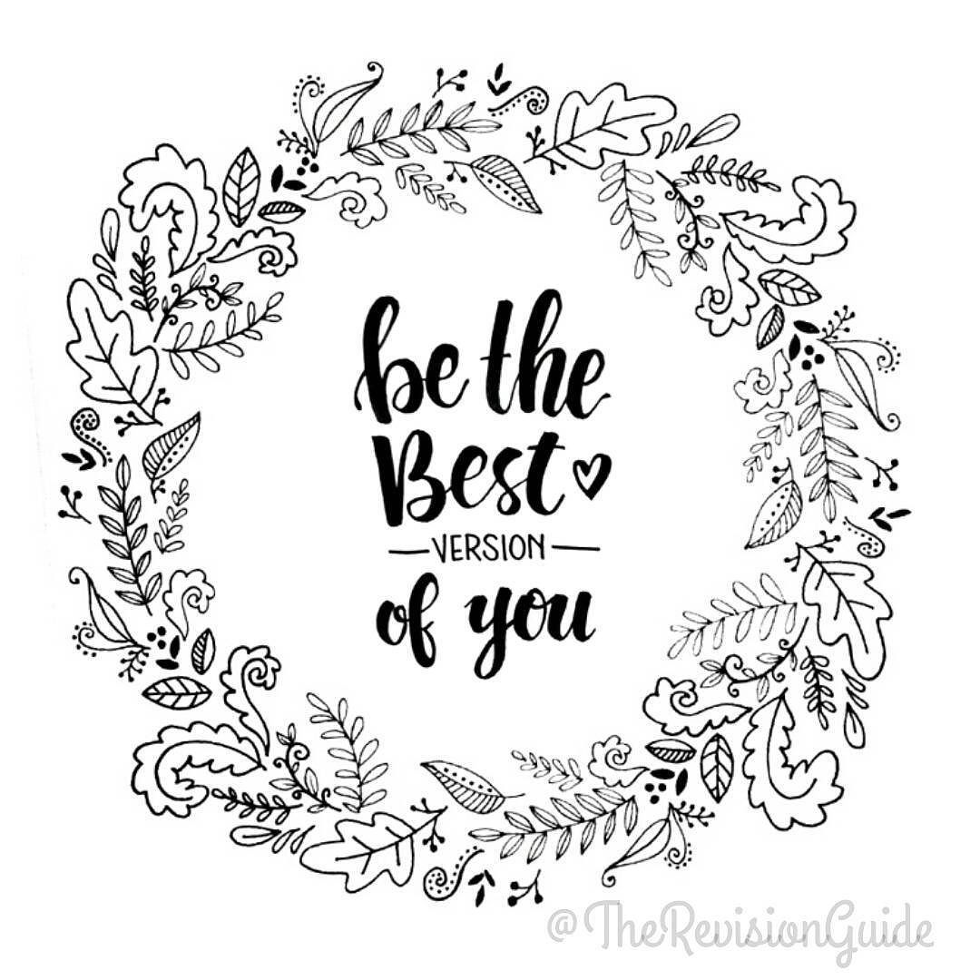 Be the best version of you. Always #TRG_RandomDoodle #TheRevisionGuide_Lettering . . How about doodle wreaths and laurels next for #TheRevisionGuide_Borders? . . . . #lettering #typography #linework #linedrawing #black #white #blackandwhite #monochrome #doodle #doodleaday #howtodoodle #tutorial #studyblr #quote #studygram #igersdubai #mydubai #studyinspiration #planner #plannercommunity #plannergirl #handlettering #handletteredabcs #letteritmarch #bulletjournal #bujo by therevisionguide