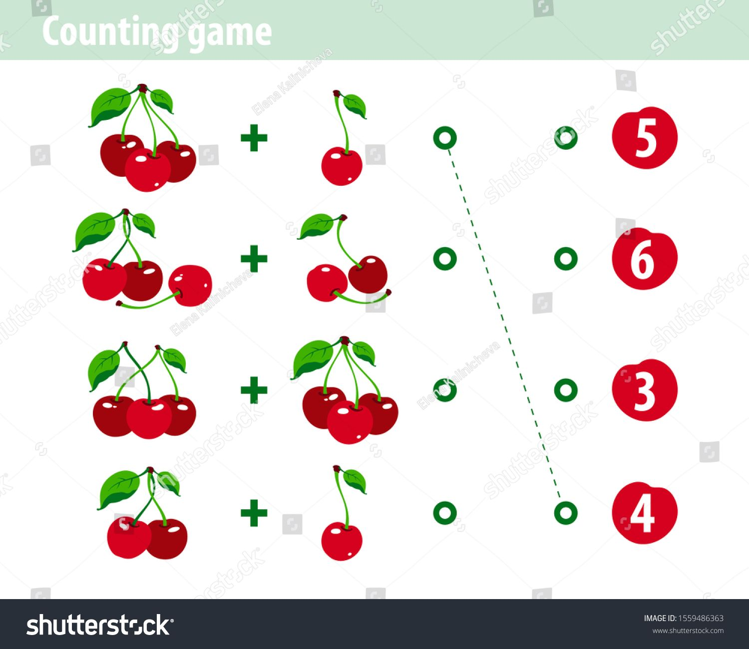 Counting Game For Children Worksheet Educational A