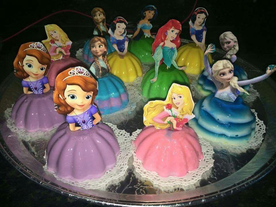 Princesas En Gelatina Gelatinas De Princesas Gelatinas Para Fiestas Gelatinas Infantiles Fiestas