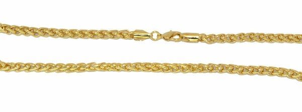 1-1732-D1 Gold Plated Wheat Link Chain