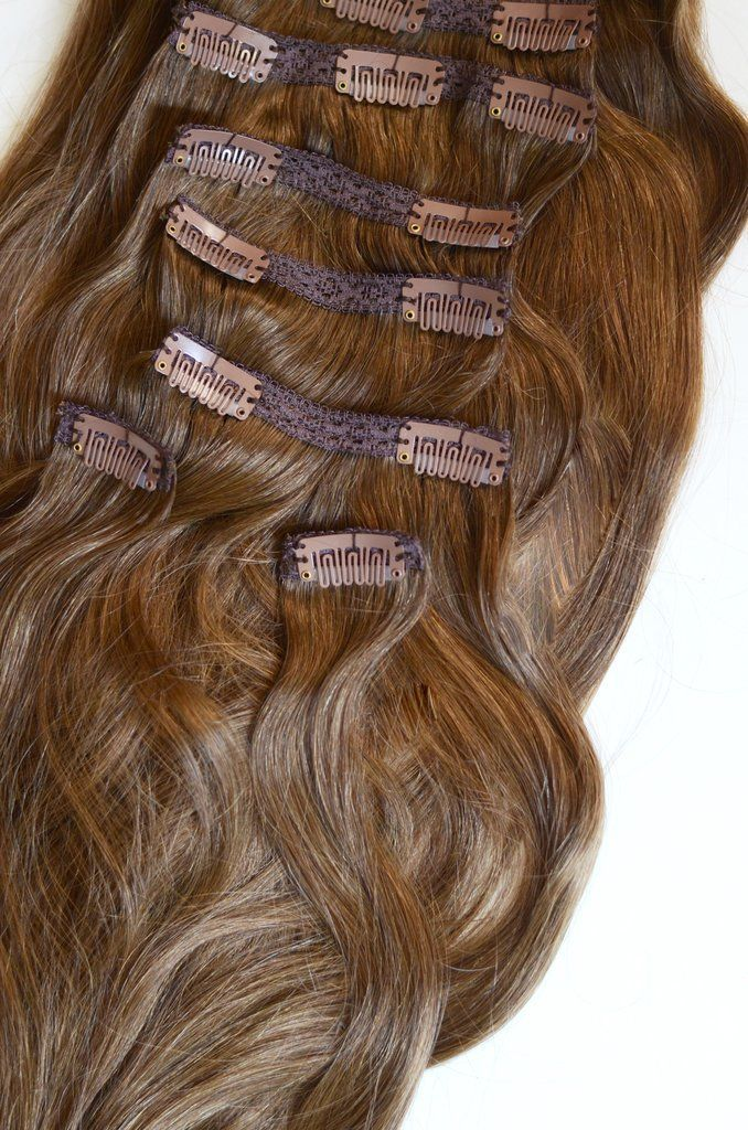 16 Inches 120 Gram Full Head Set Of 100 Remy Clip In Human Hair