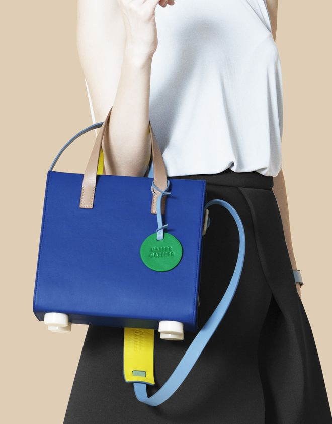 Matter Matters The Trapezium Satchel - Blue in Multicolor | Lyst