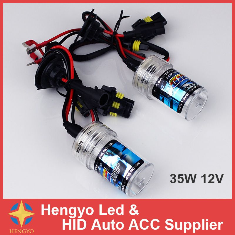 H3 6000K 35W HID Xenon Replacement 2 Bulb for Headlight Head lamps Light White