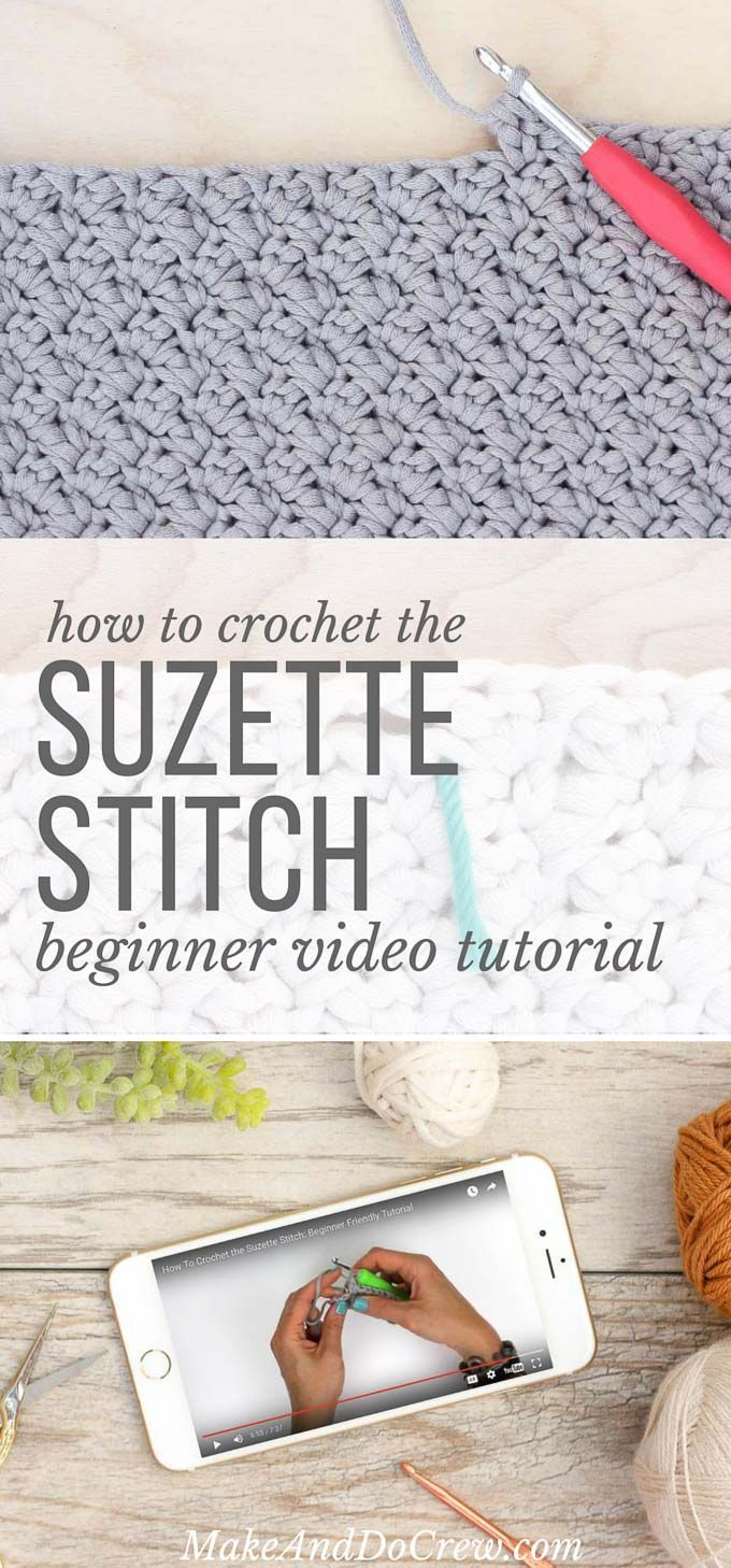 Video Tutorial: How to Crochet the Suzette Stitch | crochet stich ...
