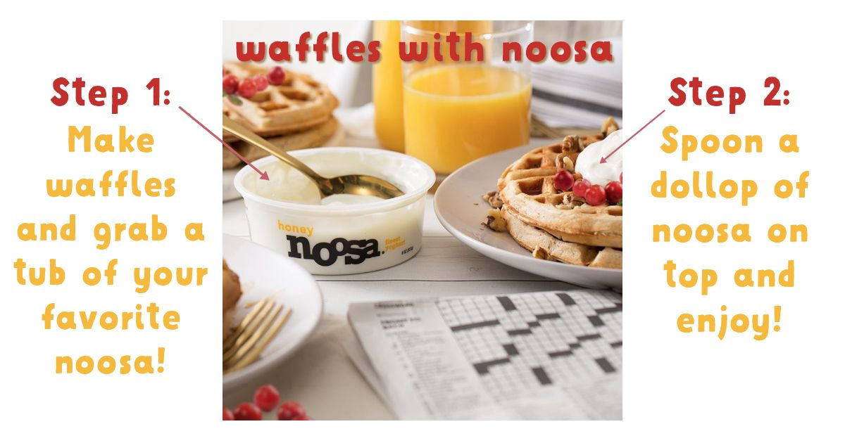 Simple 3 Step Noosa Waffle Recipe 1 Get A Waffle 2 Put Noosa Yoghurt On It 3 Enjoy What Can We Say W Nutrisystem Recipes Recipes Healthy Bedtime Snacks