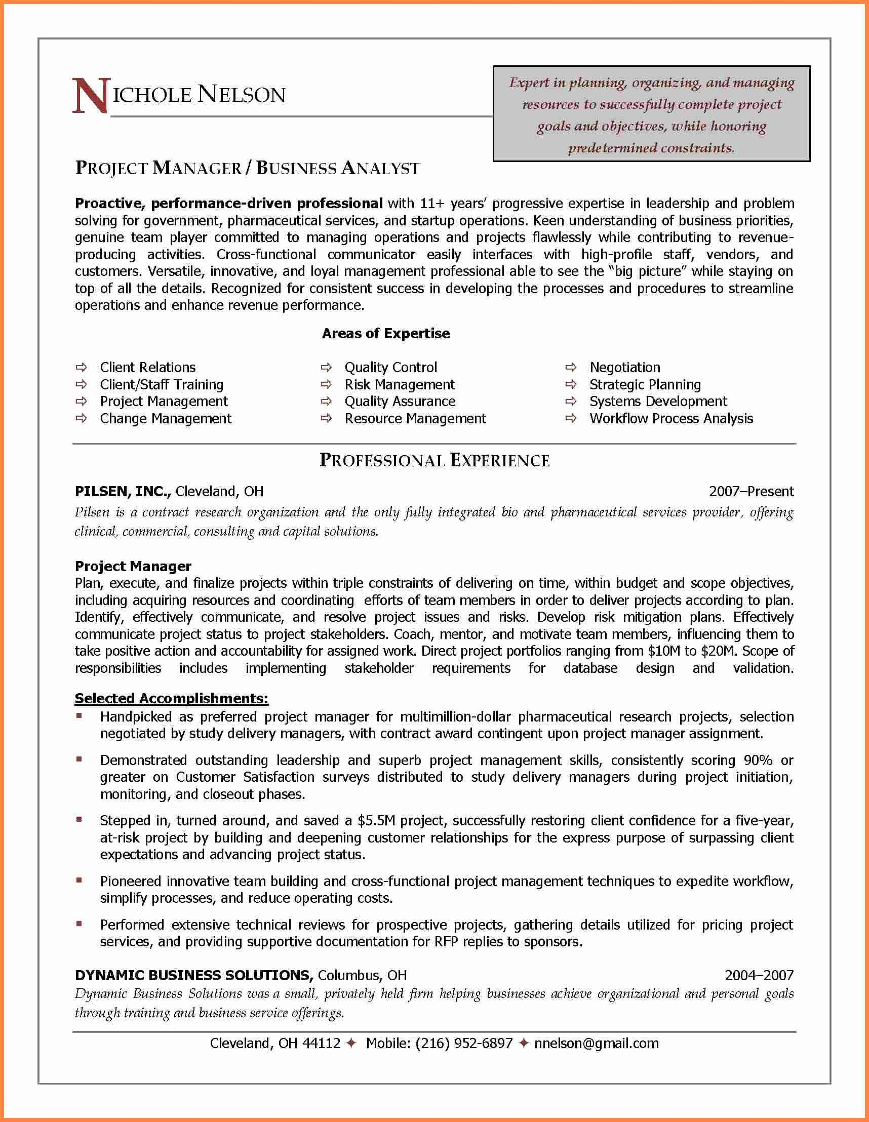 Project Management Contract Template In 2020 Business Analyst