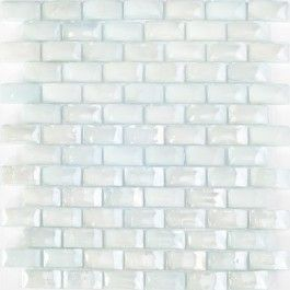 Sheet of inch curved light blue glass subway tile this iridescent white also