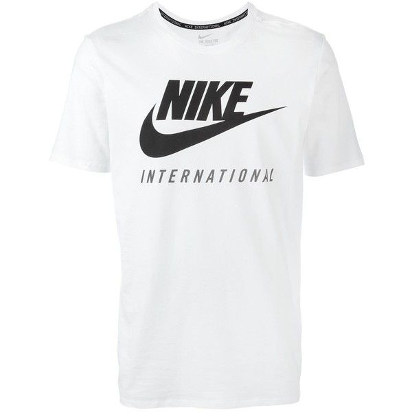 e828f382 Nike International print T-shirt ($38) ❤ liked on Polyvore featuring men's  fashion, men's clothing, men's shirts, men's t-shirts, white, mens white  shirts, ...