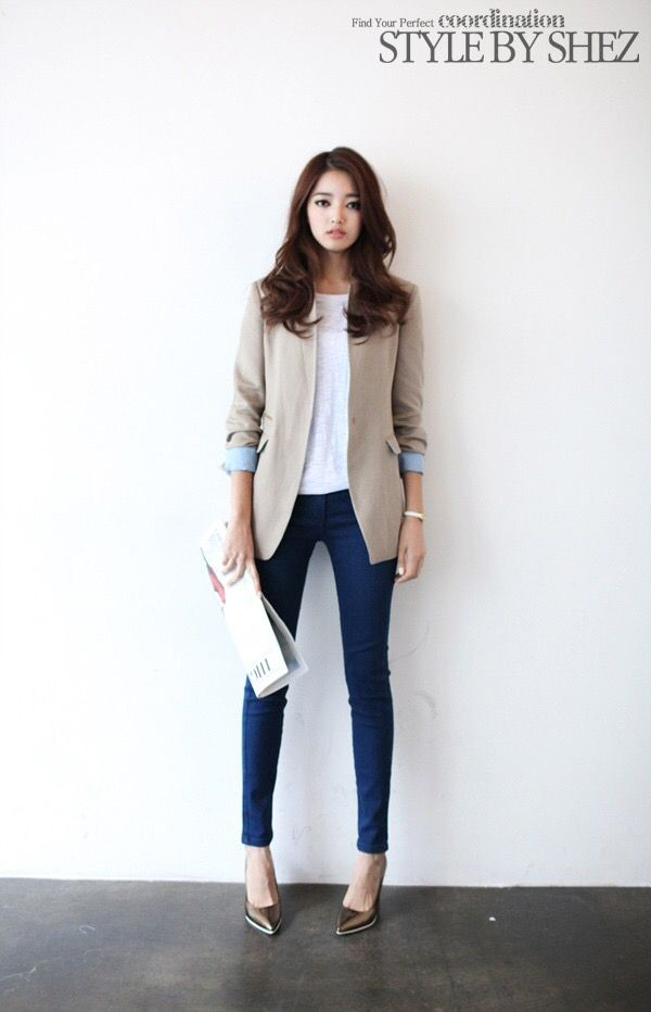 Trendy Outfit Style Shopaholic Fashion Beige Blazer