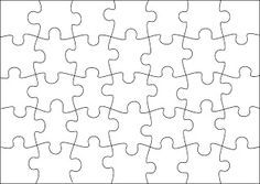 free jigsaw puzzle templates printable and in different sizes