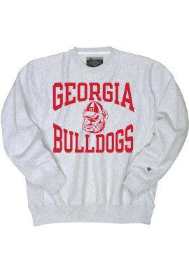best website 168a9 ce9dd University of Georgia Bulldogs Crewneck Sweatshirt   University Of Georgia