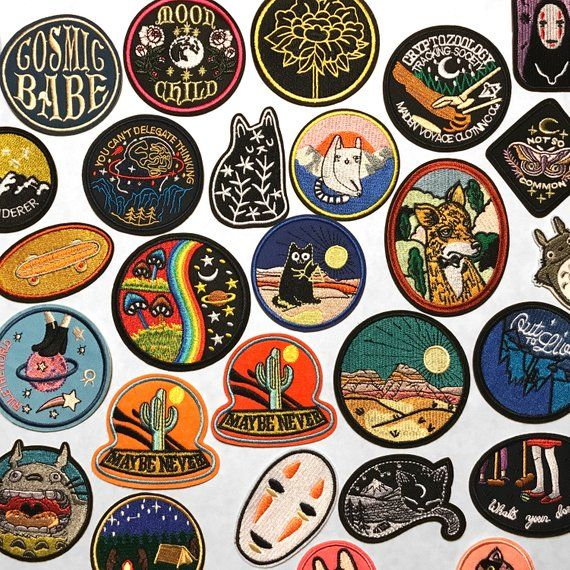 Pick One Iron On Patches   Outdoors Adventure Space Cat Patch   Desert Mountain Peachy Vintage Retro   Hat Backpack Jacket Patch   Espi Lane is part of Retro patch - EspiLane www L415andCo com