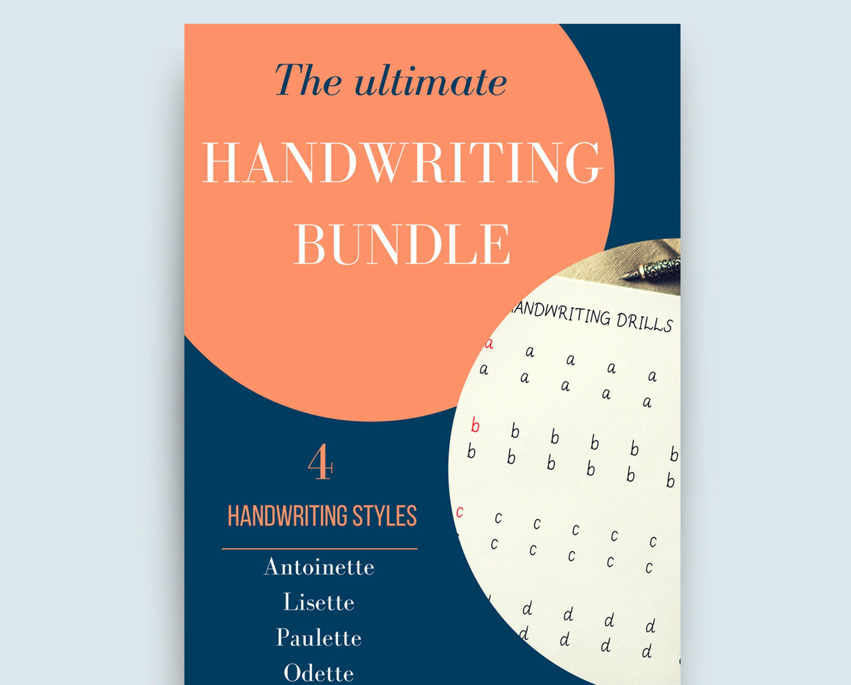 Handwriting Practice Bundle 3 Handwriting Styles Uppercase