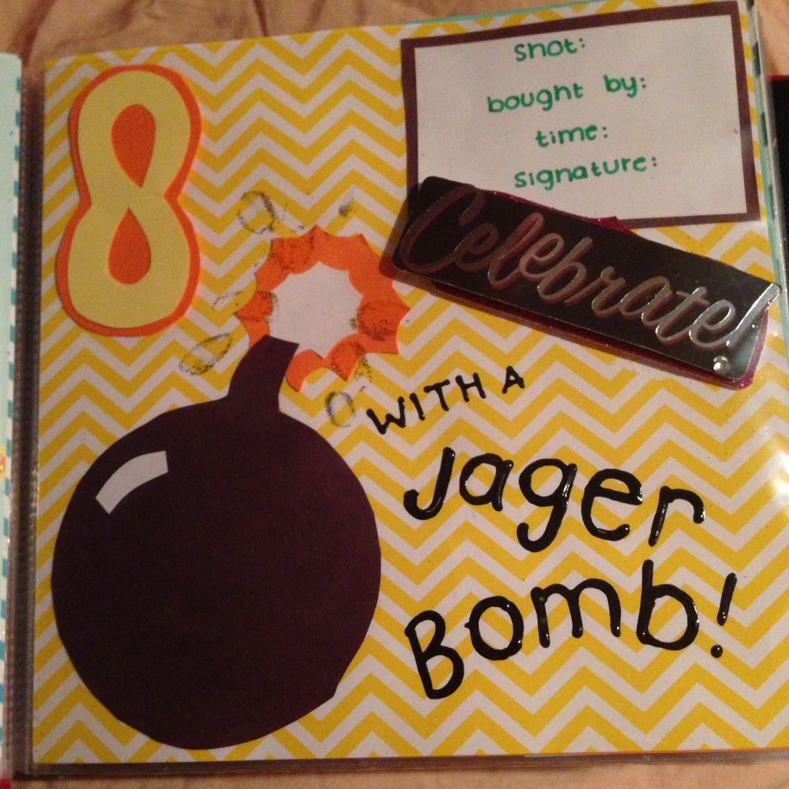 21st Birthday Shot Book #shotbook #21