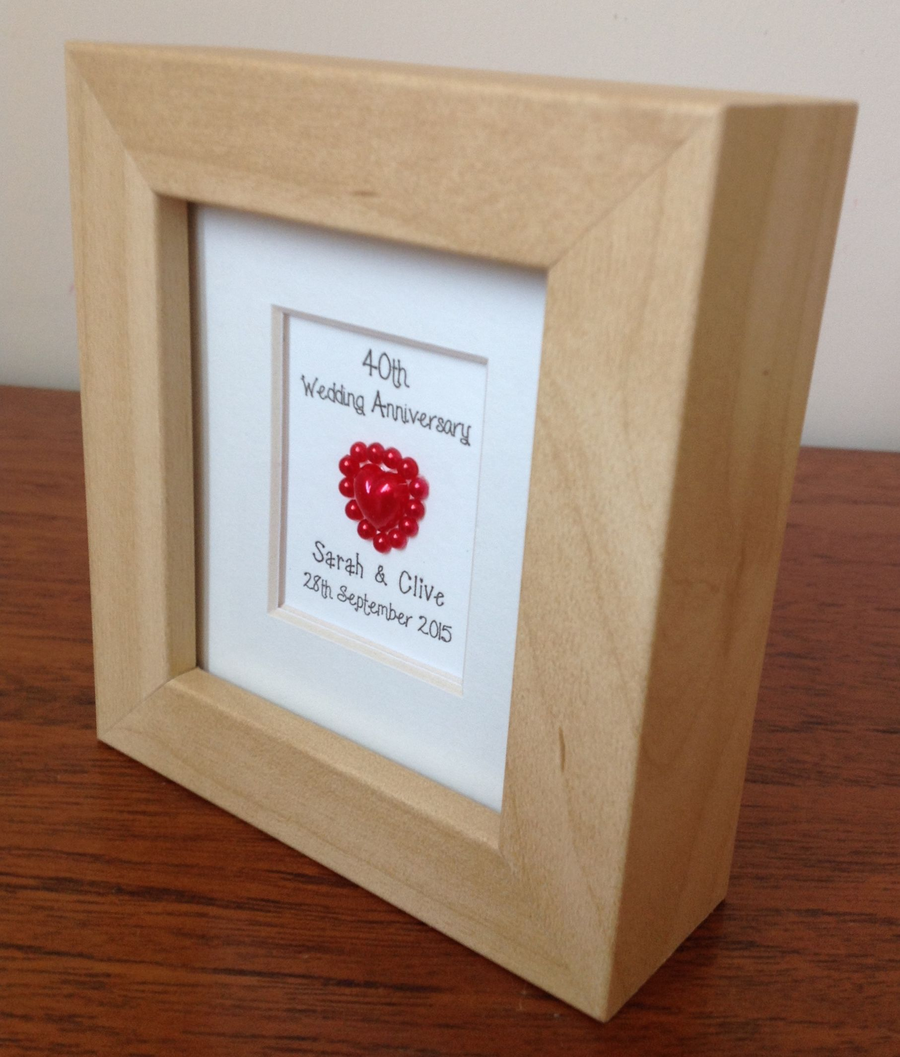 40th Ruby Wedding Anniversary Gift Personalised Www Facebook Com