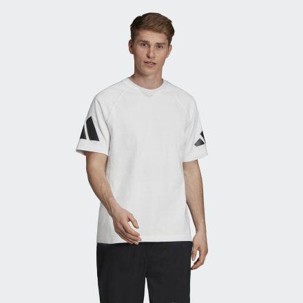 Adidas Athletics Pack Heavy Tee White Mens Shirts Stripes Fashion T Shirt