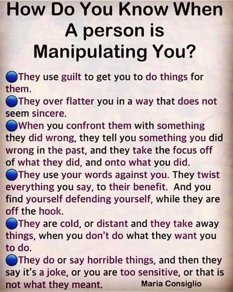 Manipulative boyfriend behavior