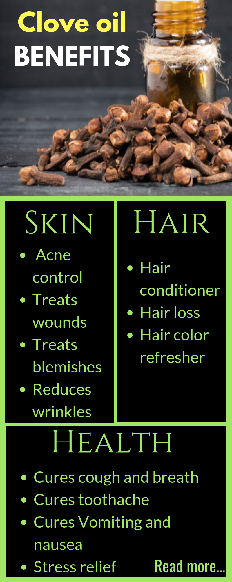 Amazing benefits of clove oil #hairhealth
