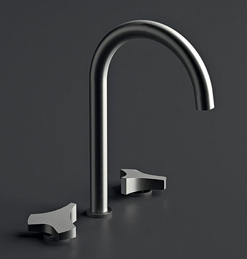 Delightful Satin Stainless Steel Faucet By Cea Design   Ziqq Loving The Design Of The  Handles.