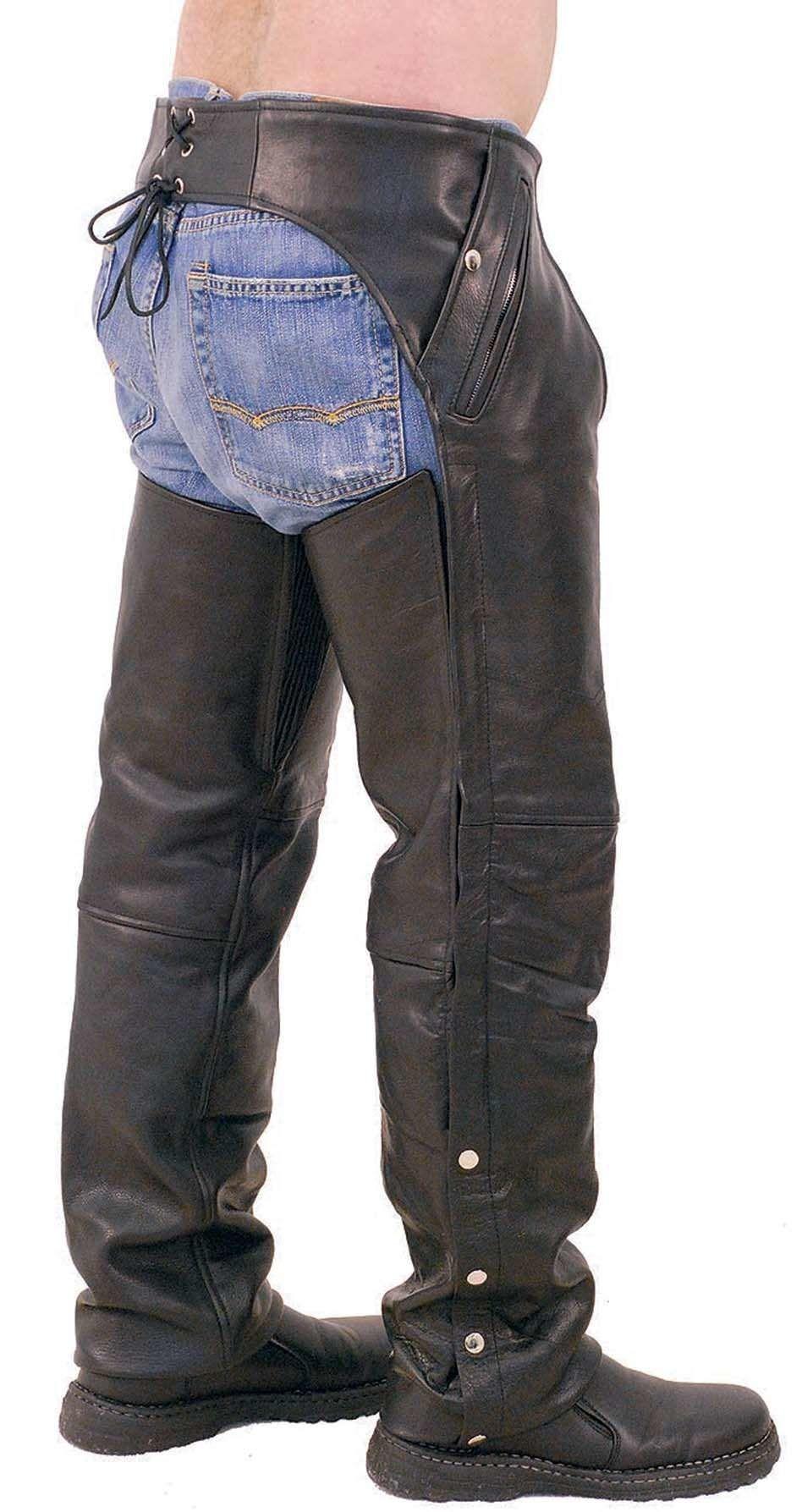 Unisex Premium Leather Chaps W Snap Out Lining C5077spk Chaps Leather Chaps Fashion Pants