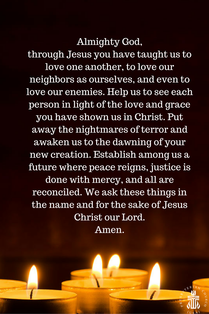 A prayer on the 15th anniversary of 9/11. Our hearts go