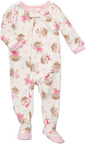 Carters Little Girls Monkey Micro Fleece Nightgown
