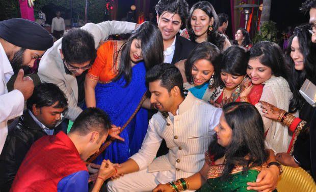 Sargun Mehta And Ravi Dubey S Wedding Bash In The Club Mumbai On 13th Dec 2013
