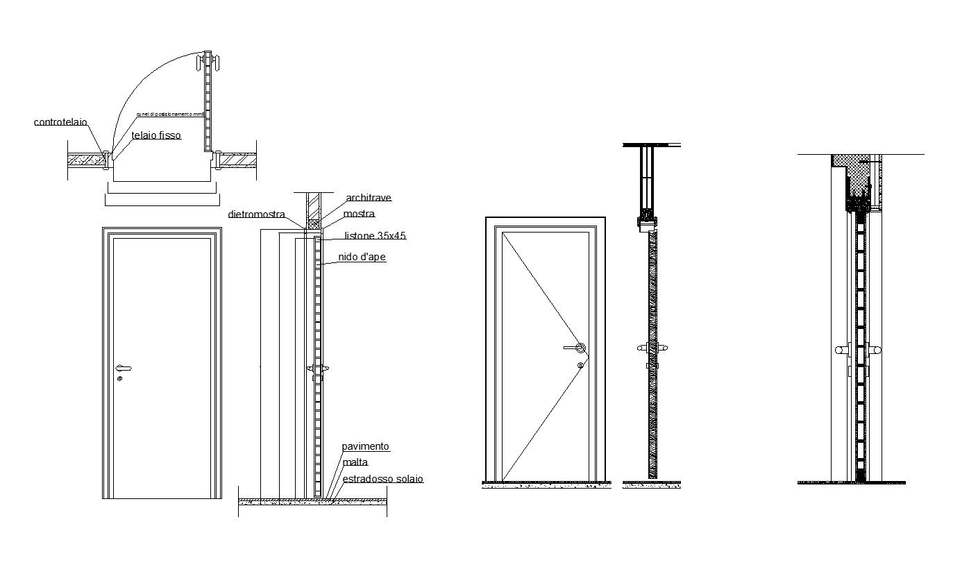 Free Door Details 2 Cad Design