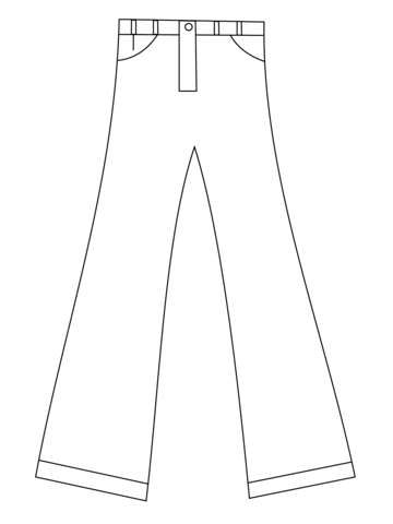 Pants Coloring Page From Clothes And Shoes Category Select From 24661 Printable Crafts O Coloring Pages Free Printable Coloring Pages Printable Coloring Pages