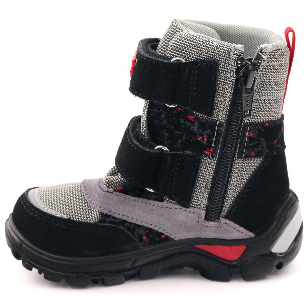 Kozaczki Dla Dzieci Bartek Czerwone Szare Czarne Kozaczki Trzewiki Nieprzemakalne 21473 Bartek Boots Childrens Boots Waterproof Boots
