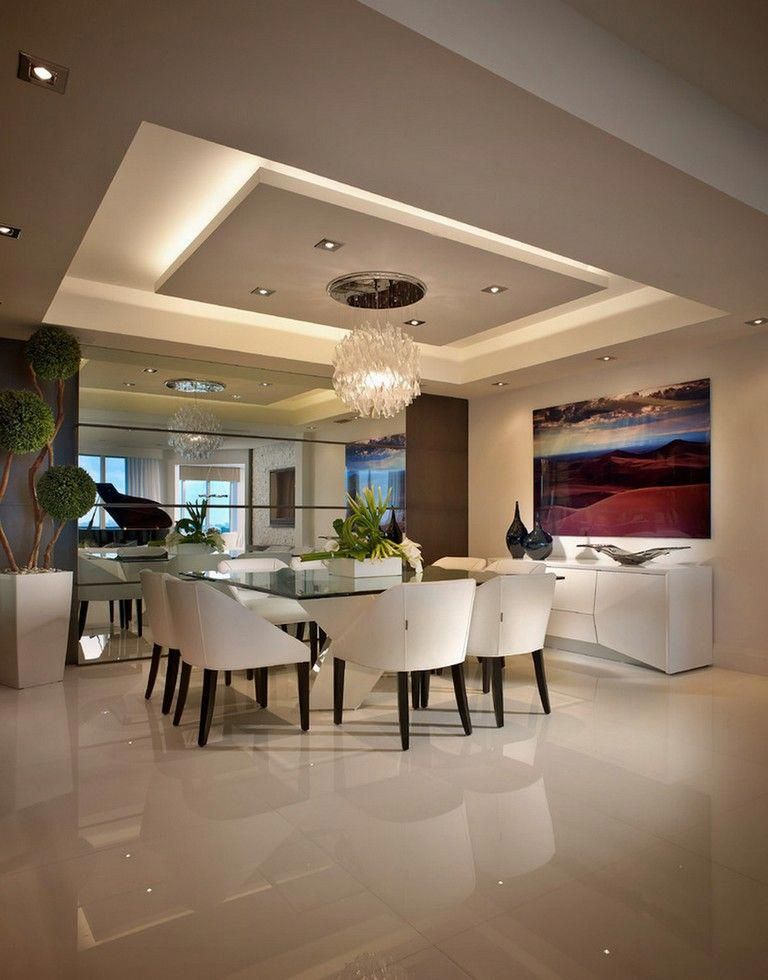 False Ceiling Designs For Living Room In Flats: 65 New False Ceilings With Cove Lighting Design For Living