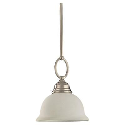 Sea Gull Lighting | 1 Light Brushed Nickel Incandescent Pendant | Home Depot Canada