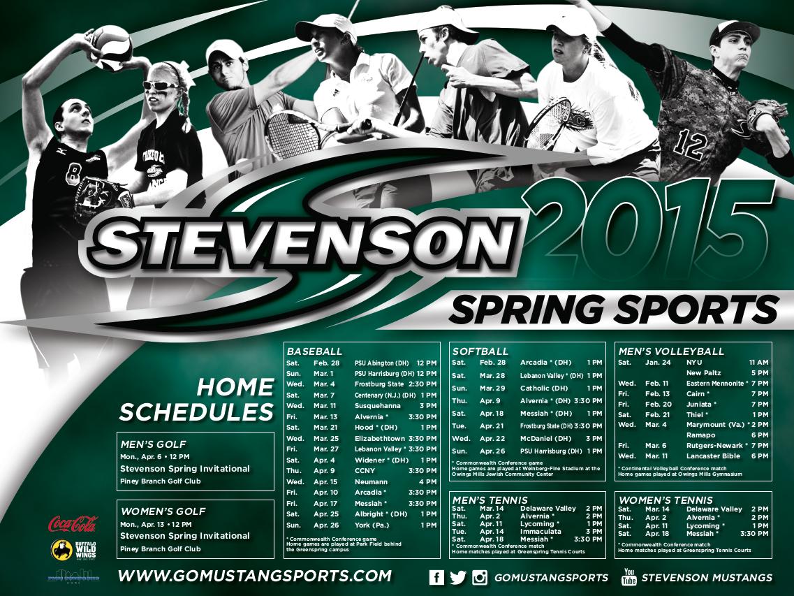 Stevenson Spring Sports Poster 2015 Sport Poster Sports Marketing Sports Design