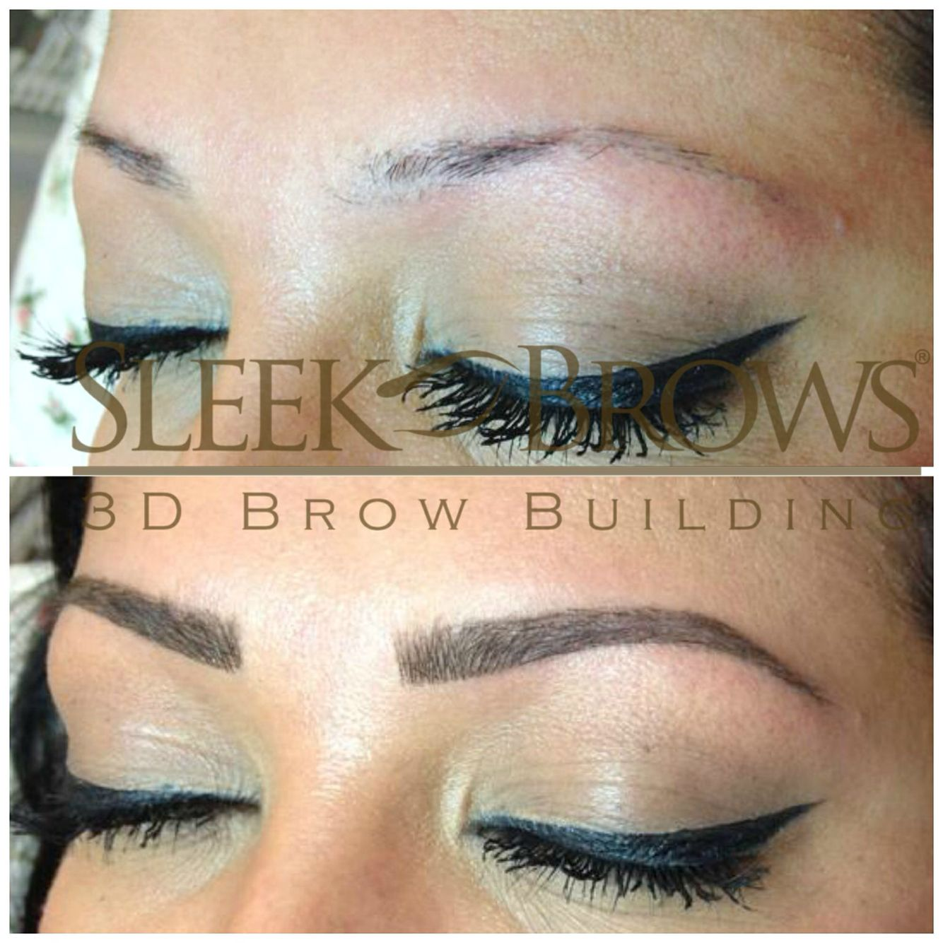 . This technique is non-invasive, smudge proof, waterproof and AMAZING!!  Learn Threading, Brow Extensions and 3D Brow Sculpting using a textured paint EXCLUSIVE only to Sleek Brows!! Contact me today!    #sleekbrows #cincinnati #brows #makeup #salon #lashes #browextensions #lashextensions