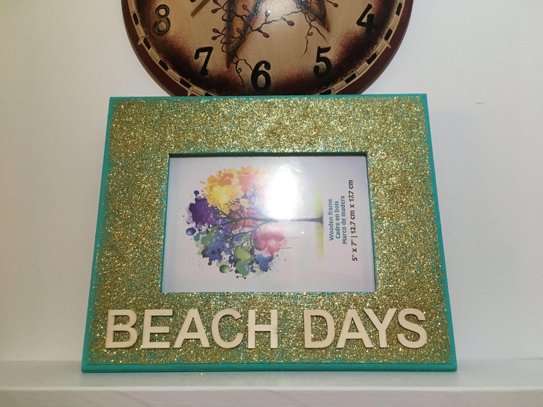 Handmade Frame Display  Beach Days  Letter Art