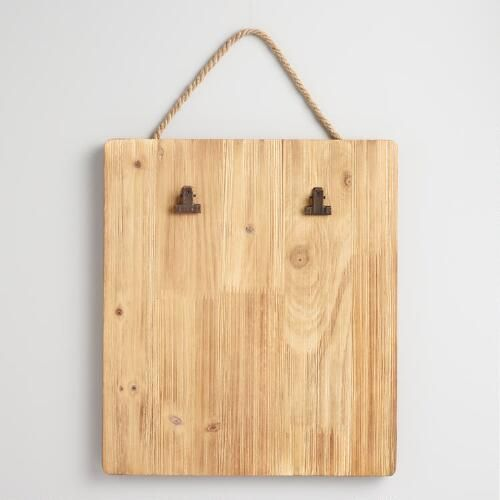 Wood Clipboard Card Holder Wall Decor: Natural by World Market ...