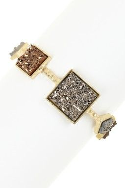 Monique Leshman Druzy Multi-Square Stretch Bracelet
