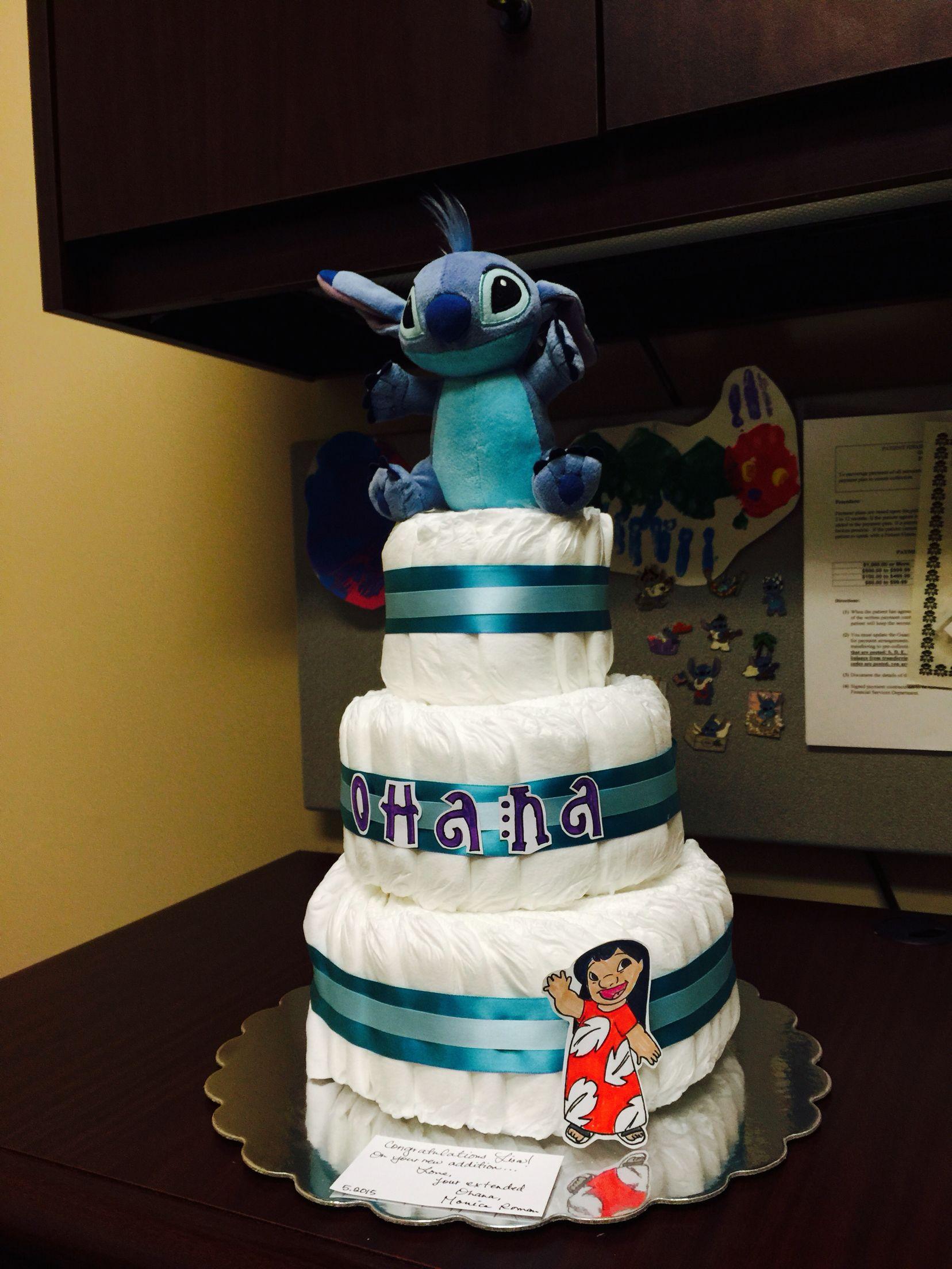 Lilo Stitch Diaper Cake Arts And Crafts Pinterest Lilo