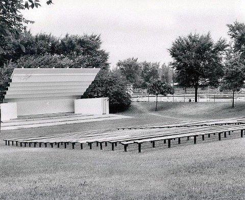 Band Shell Behind The Swimming Pool Midland Michigan In