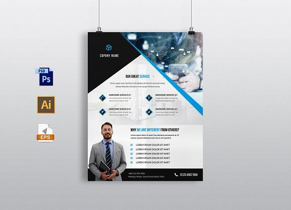 Corporate Business Flyer Template @creativework247 Templates - examples of a flyer