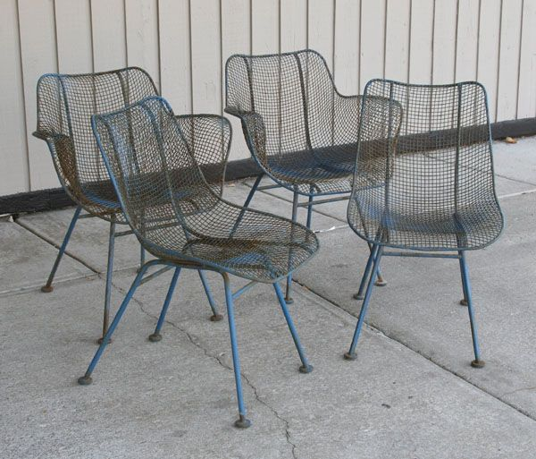 Mid Century Patio Chairs | ...  Woodard  SCULPTURA Mid Century Modern Patio LOUNGE Chairs Eames Knoll | Vintage Mid  Century Patio Furniture | Pinterest ...