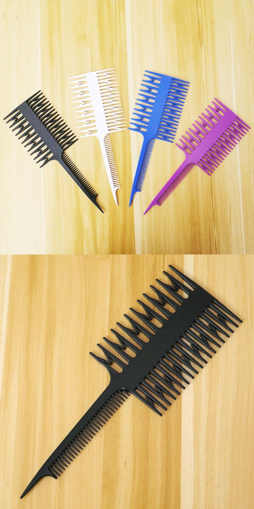 1pc Women Large Salon Professional Hair Comb Fish Sections