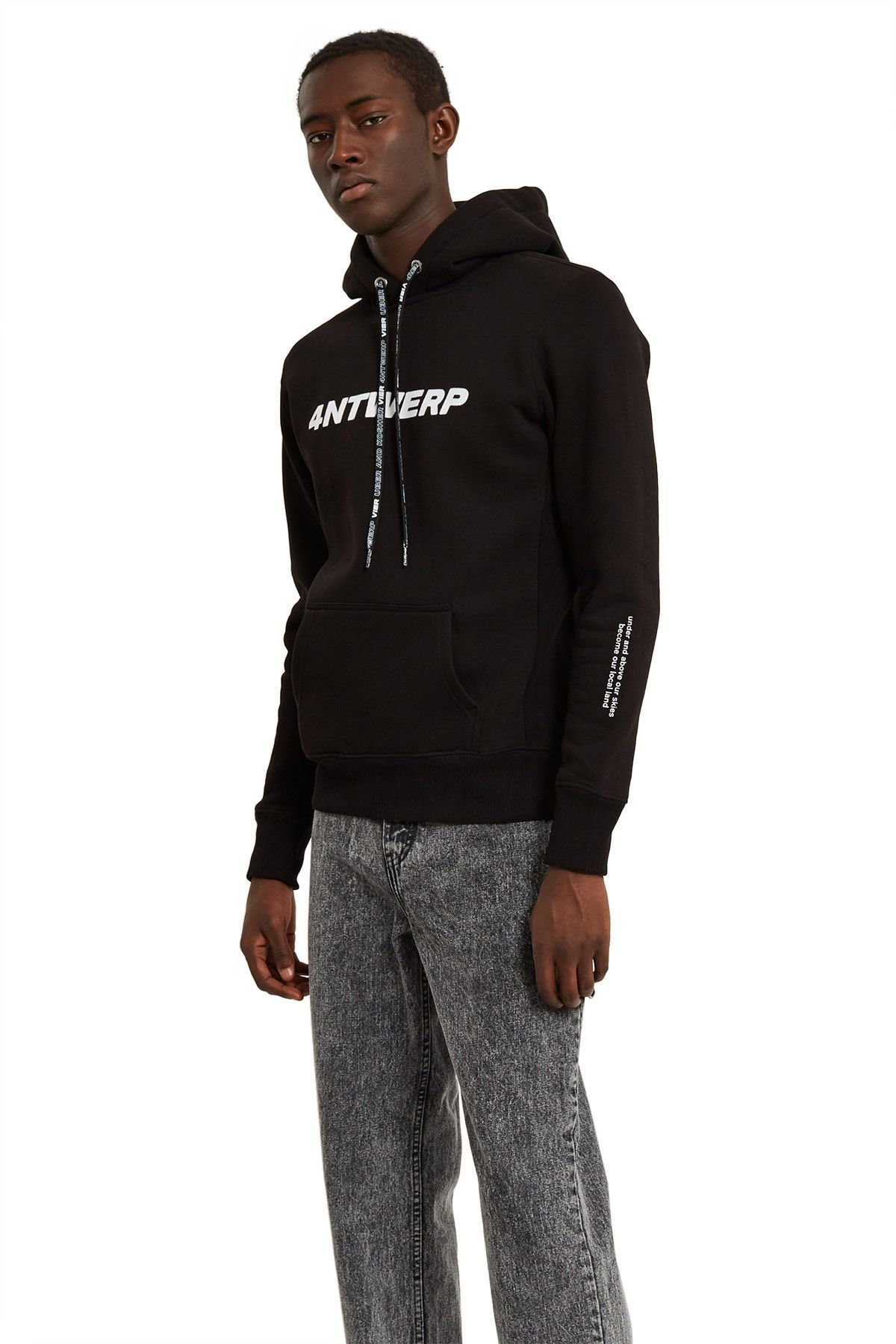 Vier Antwerp, Antwerp Hoodie Part of the Vier Antwerp and Uber and Kosher  collaboration, this hoodie features custom logo graphics along the front  and back ...