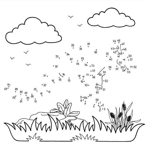 Dibujo de unir puntos de canguro: dibujo para colorear e imprimir ...