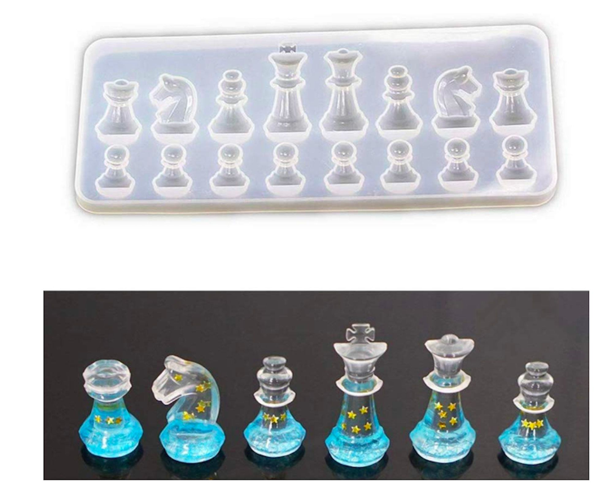 Chess Set Silicone Mold Jewelry Making Epoxy Mould Handmade Crafting Tool Mystic