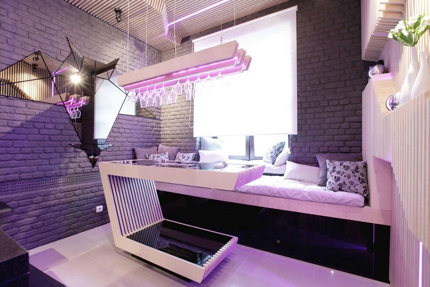 modern small kitchen futuristic interior designgeometrix