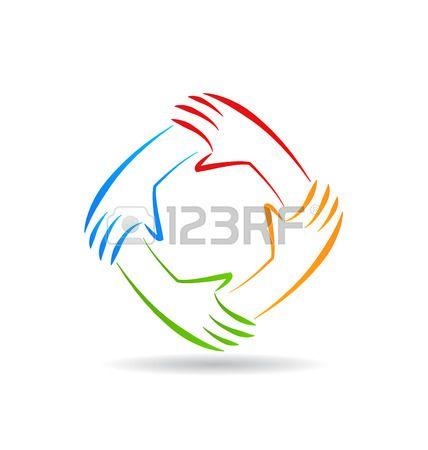 Stock Vector Hand Logo Unity Logo Political Logos
