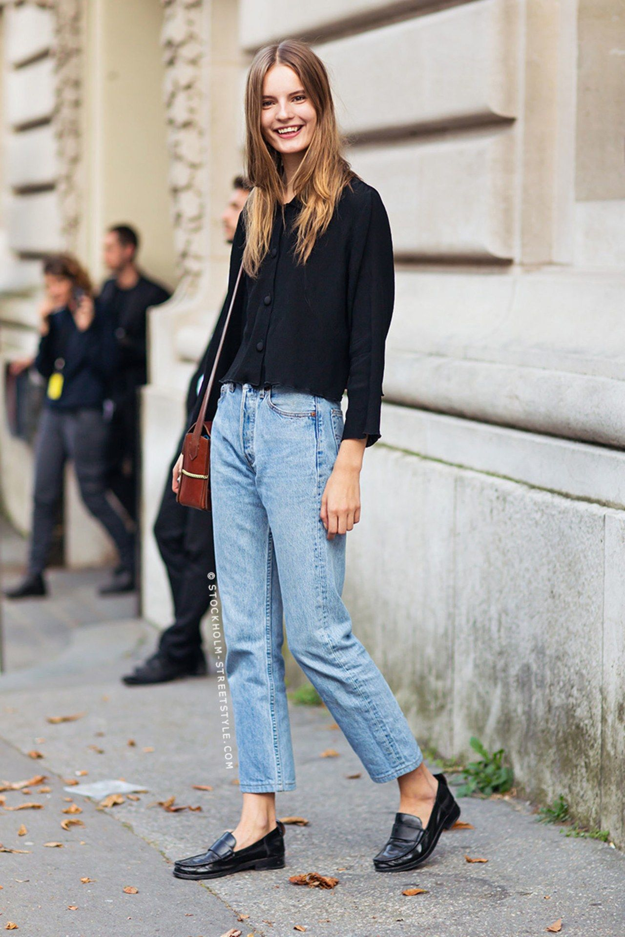 Image result for masculine loafer street style | Denim street style, Fashion clothes women, Black women fashion